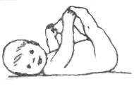 Развитие 7 месяцев. Ребенок тянет ножки в рот